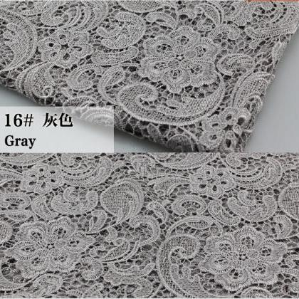 Gray Color Cord Lace Fabric For Wom..