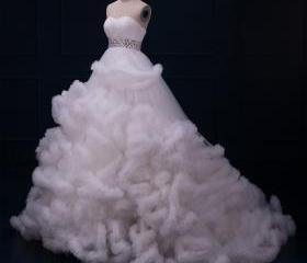 White Tulle Cloud Sh..