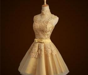 Short Lace Gold Brid..