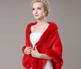 Red Artificial Fur C..